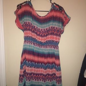 Chevron patterned dress